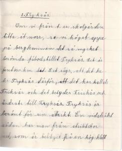 Uppsats av Bogga Anna Andersson 1932