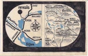 Karta ritad av Järk Borén