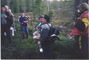 Invigning av spången vid Rädsjön, juli 1999