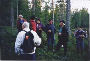På väg till Rädsjön, juli 1999