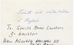 Smids Anna Larsson tvättar vid västerkällan,  0002