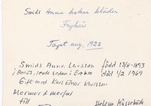 Smids Anna kokar kläder aug 1923, 0002