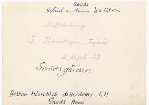 Smids Astrid och Anna den 20 juli 1927,  0002