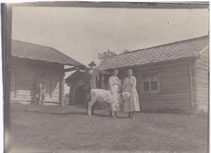 Syskonen Smids Erik Larsson, Anna och Lydia, omkring 1918-20