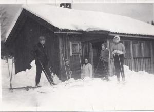 Elsa och Sverre Westeng, Margit Bogg, Agneta Axelsson (Ekström)